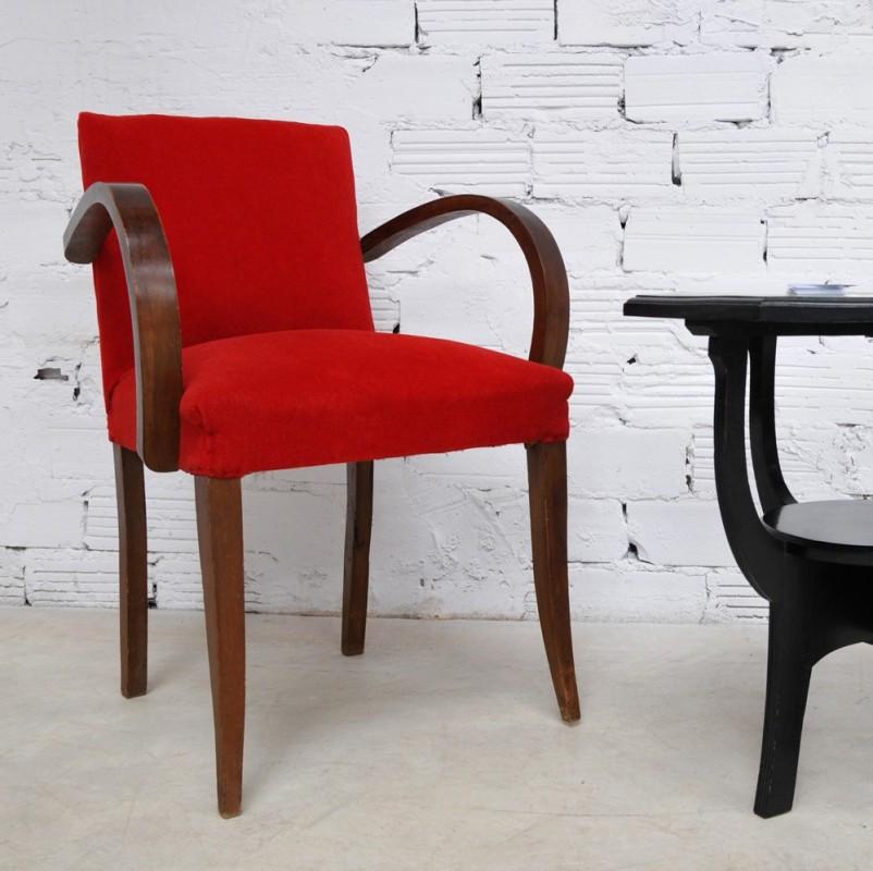 fauteuil bridge vintage piece unique ancienne ann es 40 50. Black Bedroom Furniture Sets. Home Design Ideas