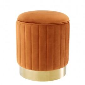 Ottoman Allegro Orange Velvet