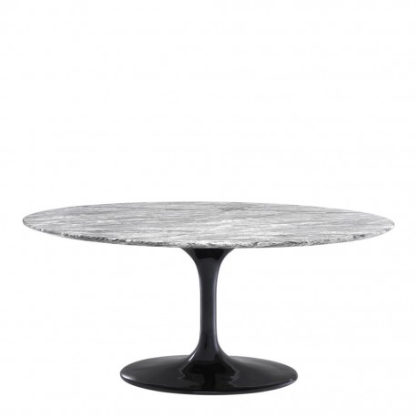 Beautiful Contemporary Gray Oval Dining Table With Its 170cm Long Tray And 110cm Deep
