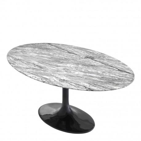 Table Ovale Grise Ennio 170 cm