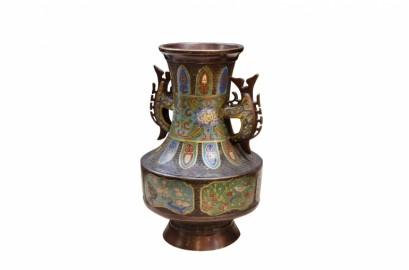 Vase en émaux cloisonnés,1900
