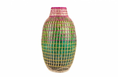 Multicolor Bamboo Vase
