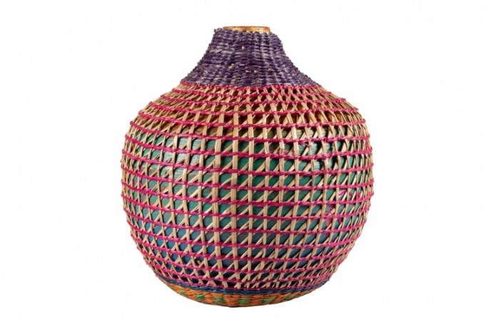 Multicolor Bamboo Vase IV