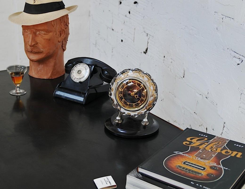 Horloge russe, pendule vintage russe, pendule art déco russe ...
