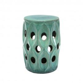 Guéridon Bee en Céramique Turquoise
