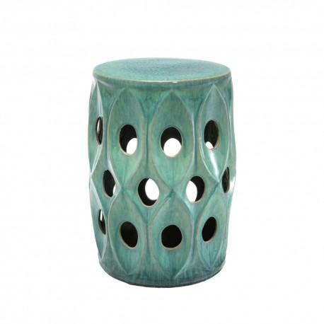 Turquoise Ceramic Stool