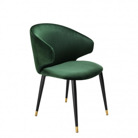 Dining Chair Talisker, Dark Green Velvet
