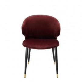 Dining Chair Talisker, Red Bordeaux Velvet