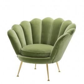 Chiara Armchair almond green
