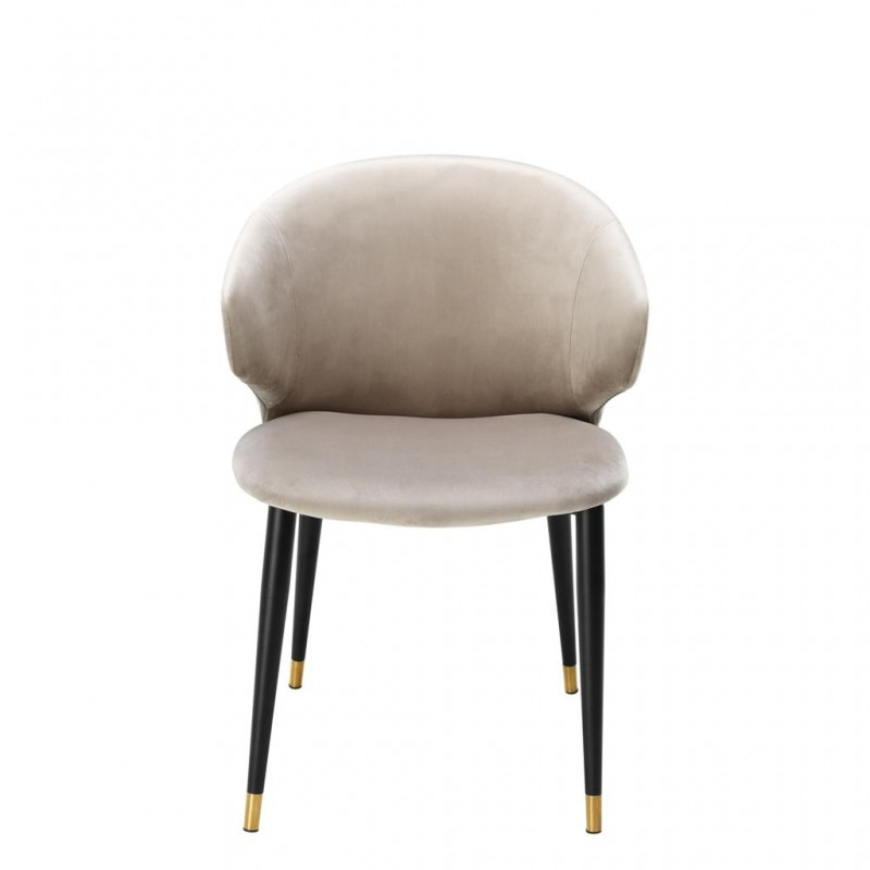 The Talisker Dining Chair Black And Gold Metal Base And