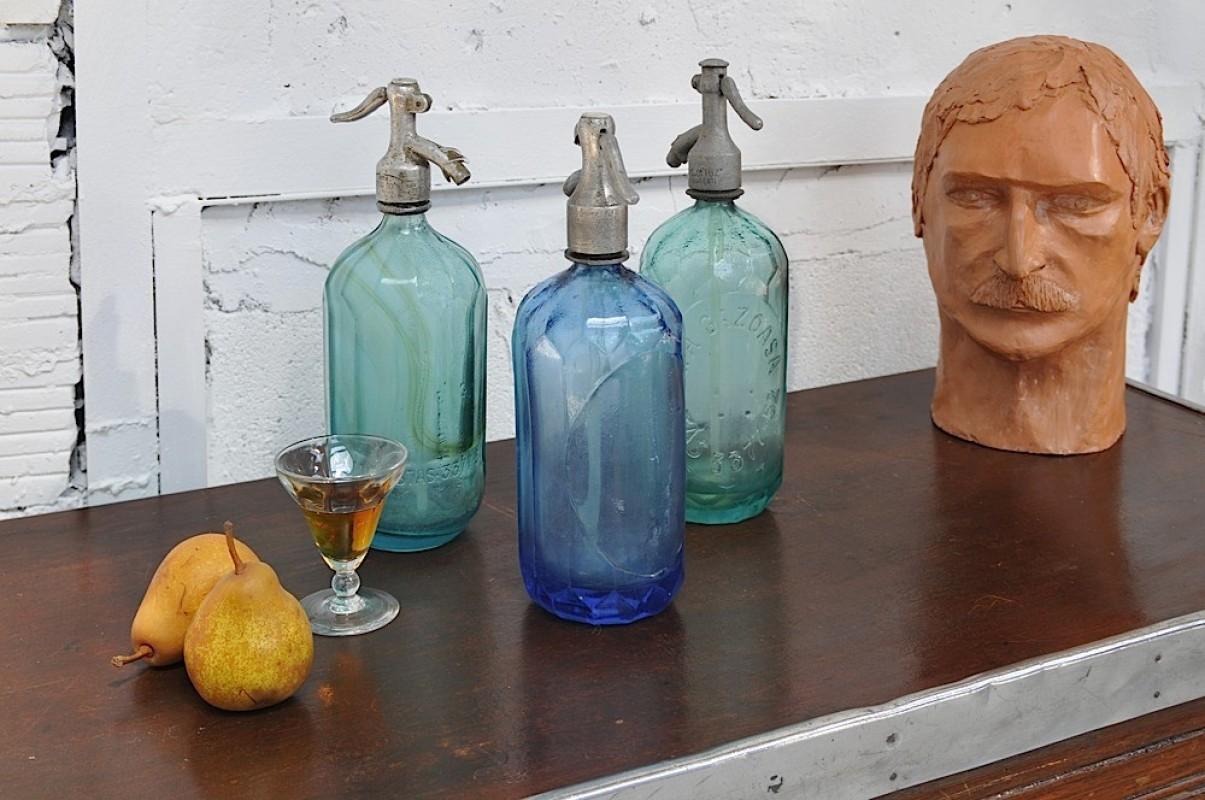 siphons vintage de bistrot eau de seltz comptoir bar ancien. Black Bedroom Furniture Sets. Home Design Ideas