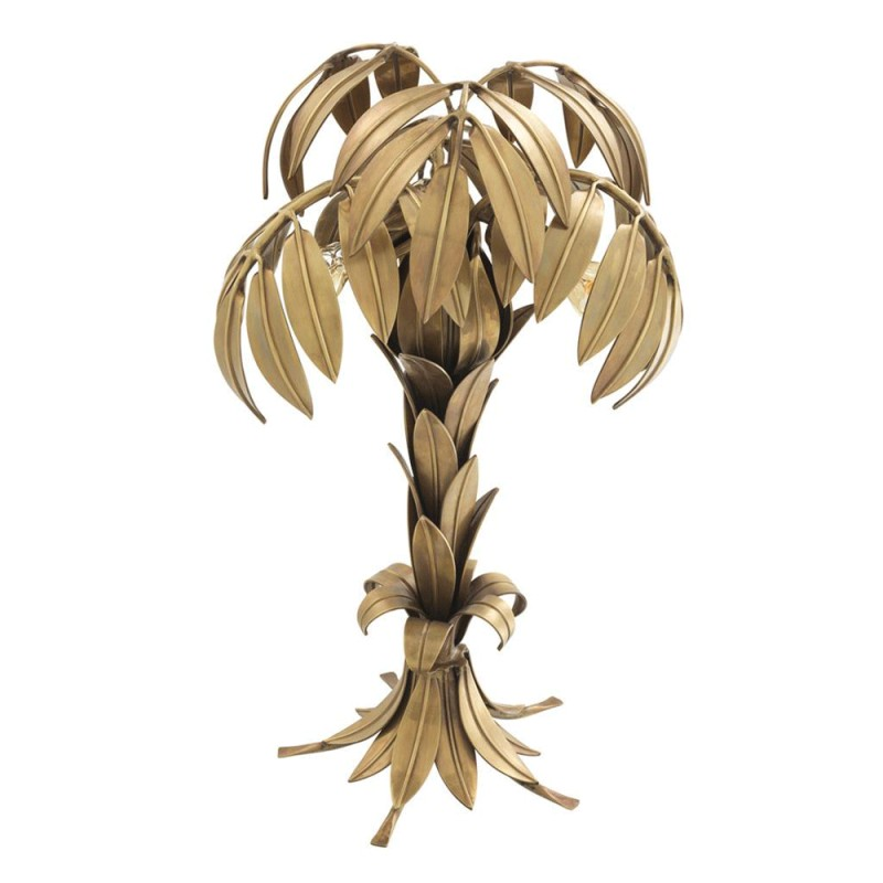 En Table De Laiton Palmier Très Belle Massif Lampe Forme eQxWCordB