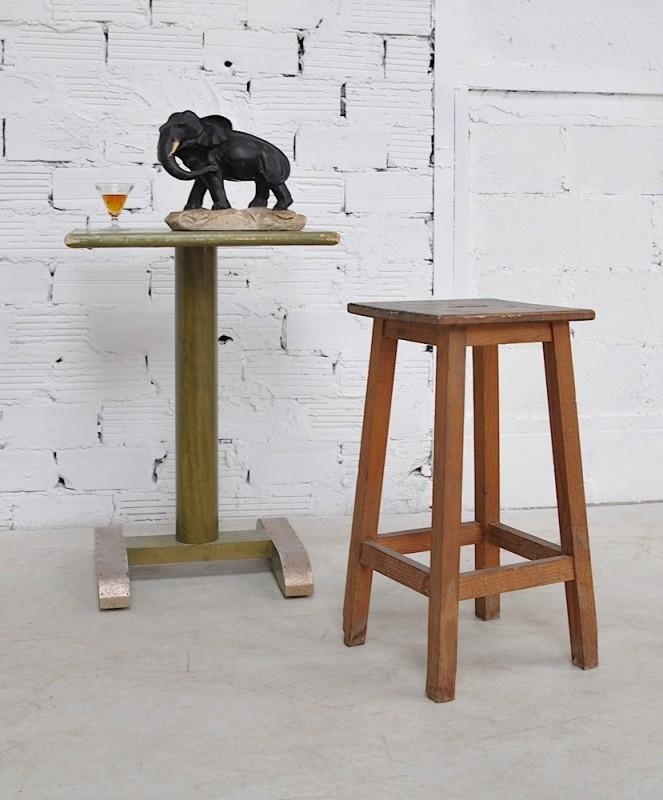 Chaise vintage tabouret d 39 atelier ann es 1940 ancien et pi ce unique - Tabouret d atelier vintage ...