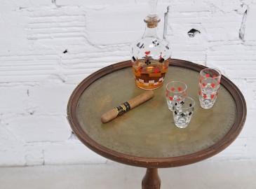 """Petite carafe et verres """"Jeu de poker"""""""