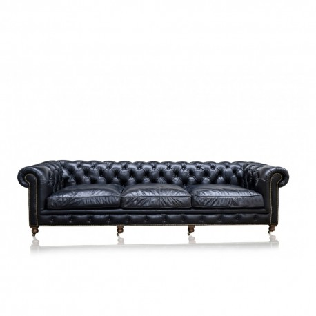 Canapé Chesterfield Old Saddle Black