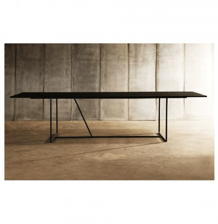 Dining Table W - Black Oak 300 cm