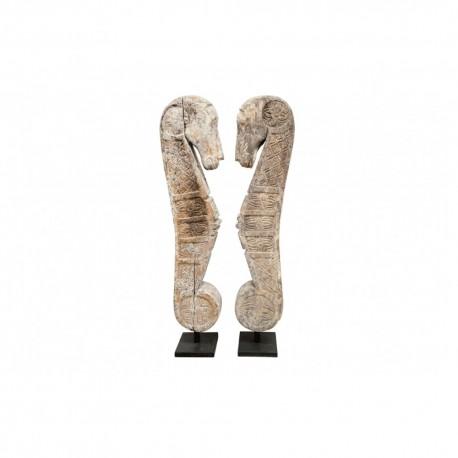 Statue bois Cheval stylisé