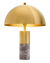 Brass and Marble Table Lamp