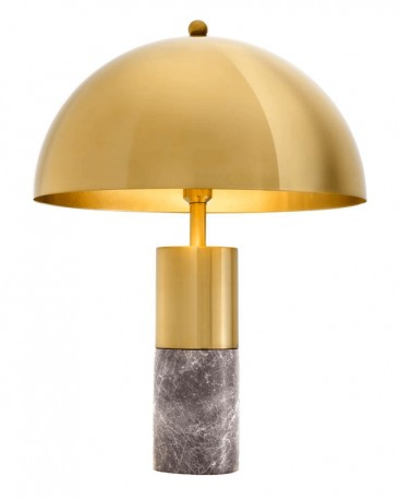 ce10ee4e8317 Table lamp in polished gold brass with its gray marble foot, a ...