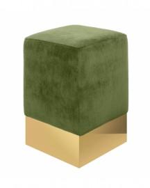 Tabouret Velours Vert Sauge