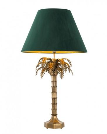 Palm Tree Brass Lamp Baker