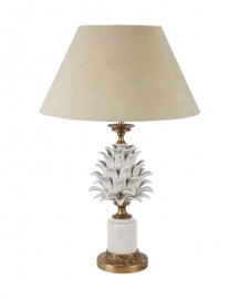 Lampe Ananas, porcelaine & bronze