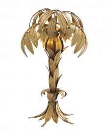 Palm Tree Brass Lamp Baker