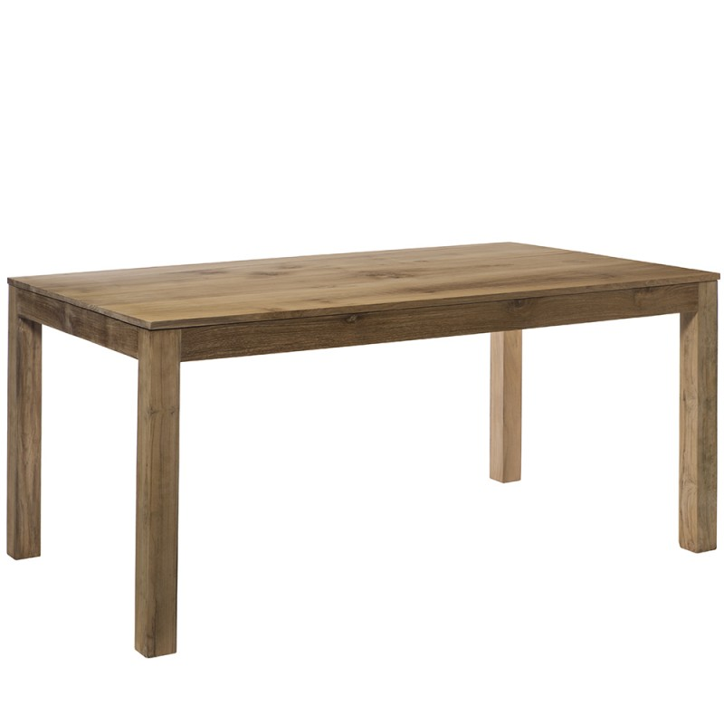 la table en teck naturel ravoux avec son plateau de 205 cm. Black Bedroom Furniture Sets. Home Design Ideas