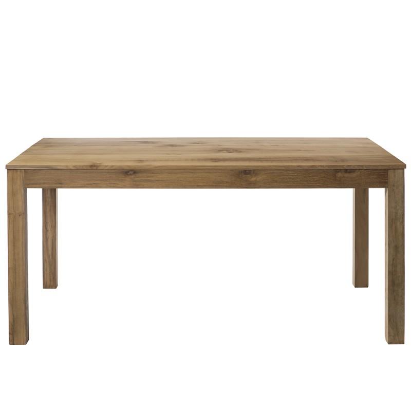 La table en teck naturel ravoux avec son plateau de 205 cm - Table en bois brut ...