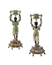 Bougeoirs Personnages Indiens H36cm