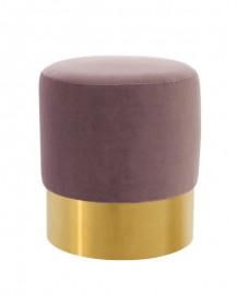 Lilac Sauge Velvet Stool