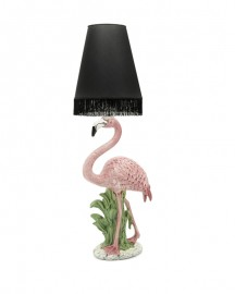 Lampe Flamant Rose Abat Jour Noir H133 cm