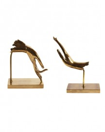 Bookends, Brass Sculpture Delicacy