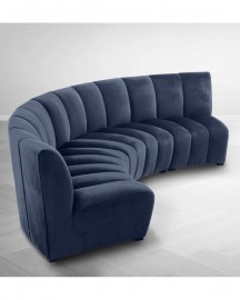 Velvet Sofa Midnight Blue L363cm