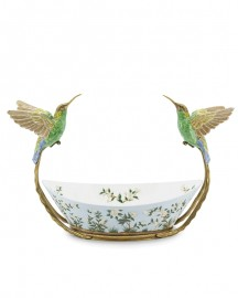 Porcelain Bowl Hummingbird