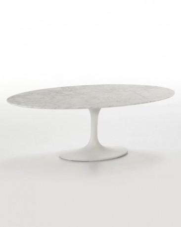 Table Basse Ovale Marbre Blanc