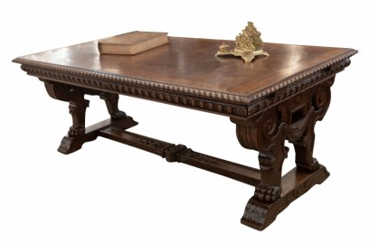 une superbe table henri ii 1880 r alis e en ch ne. Black Bedroom Furniture Sets. Home Design Ideas