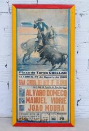 Corrida, 1983, Affiche sur bois,