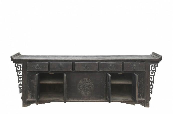 High Gloss Vintage Sideboard - 190 cm