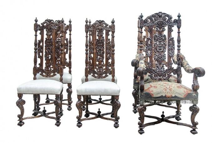 Renaissance Set of 6 Chairs