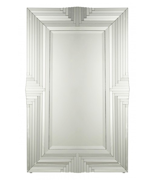 Large Art Deco Mirror Manhattan From 1900 1920 A Mirror Of Beautiful Size Measuring 122cm High By 76 Cm Wide