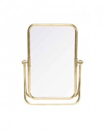 Swivel Table Mirror in Brass