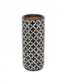 Vase Haut Noir et Blanc Céramique H62cm