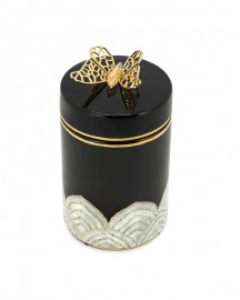 Butterfly and Selenite Hand Painted Ceramic box
