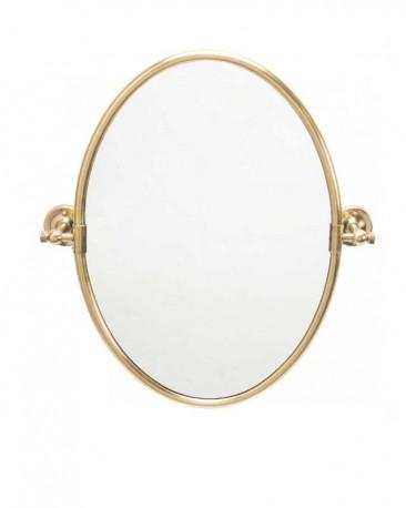 Miroir Oval Pivotant Laiton H56cm