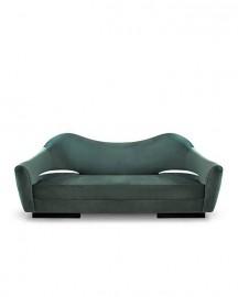 Mandarin Green Velvel Sofa Chest - Made To Order