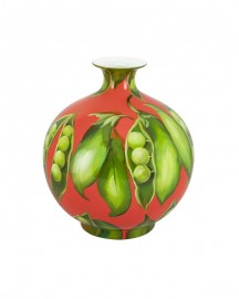 Vase Petits Pois, Céramique Emaillée H30cm