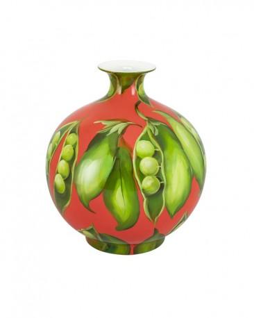 Vase in Ceramic, Bean Motifs
