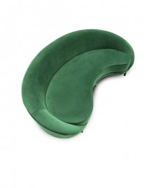 Green Velvet Sofa Bean 250 cm