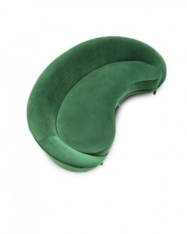 Green Velvet Sofa Bean L250cm